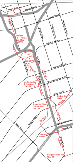 87 Mall Circle Route Map