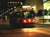 Eastbound Queen Car on King at Night