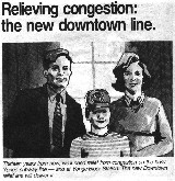 A typical 1998 family, happy that the Downtown Relief Line is now open