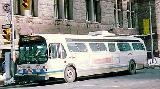 A Leased Edmonton Coach Poses Outside Old City Hall